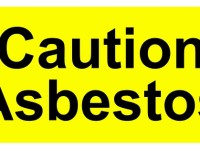 An image of a Caution asbestos sign